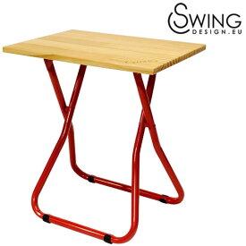 【送料無料】【Swing Design スウィングデザイン】折りたたみ式コンパクトチェアー兼ミニテーブル レッド