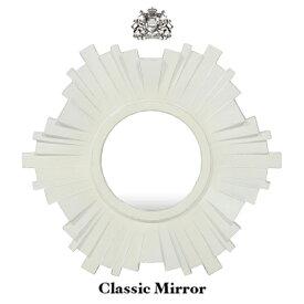 鏡 壁掛け 壁掛けミラー 壁面ミラー ウォールミラー カガミ 姿見 アンティーク調 アンティーク風 アンティーク クラシック ゴシック ホワイト 白 金運 風水 ゴージャス エレガント シンプル 店舗用品 洗面所 洗面 トイレ MR553
