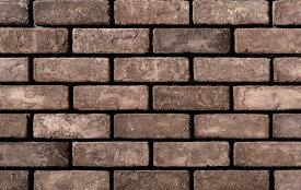 ブリックタイル ニューブリック ベーシックブラウン フラット 1ケース66枚(約1m2)入り セメント系壁面ブリックタイル