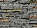 擬石 屋内壁 屋外壁 積み石風 グレー系【スタックストーンXP ダークグレー:フラット】セメント系壁面ストーンタイル 1ケース約0.5m2入り