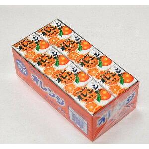10円 マーブルガム(玉ガム、4粒入) 24入 オレンジ【駄菓子】