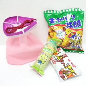 ミニあさがおのラッピング袋入り お菓子詰め合わせ 1個 (取合せ/詰め合せ/詰合せ)