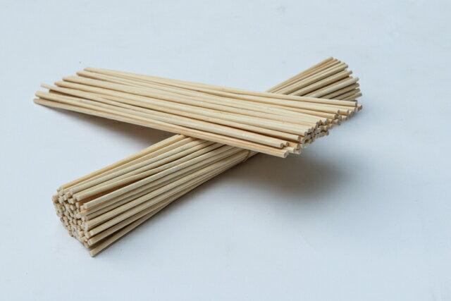 花綿菓子用木製角棒 100本入(新型綿菓子機/花綿菓子機/TORNADO用割箸 四角40cm)