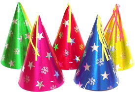 【数量限定】スタースノーホイル帽子【大】 【三角帽子 とんがり帽子 トンガリ帽子 パーティー 子供会】