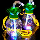 光るパイナップルボトル ストラップ付 6個入(電球ボトル類似品 光る容器)
