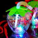 光るイチゴボトル ストラップ付 6個入(電球ボトル類似品 光る容器)