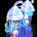 【ケース販売】光るソフトクリーム型ボトル(ストラップ付) 120個入(6×10×2)(電球ボトル類似品 光る容器)