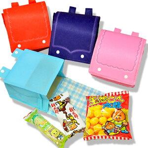 【チェック柄】ラッピング袋入りお菓子詰め合わせ ランドセルバッグ 1個 (取合せ/詰め合せ/詰合せ)