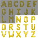 英語(英字)POPバルーン 金 [N〜Zからお選び下さい](※A〜Mは別ページ) 【アルファベット バルーン 風船】