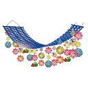 夏祭り装飾 盛夏スイカ花火プリーツハンガー  L180cm/ディスプレイ 装飾 飾り