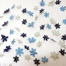 ウィンター装飾 スノーフレークガーランド L120cm / 冬 雪 ディスプレイ 飾り
