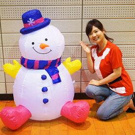 クリスマスエアブロー装飾 ミニスノーマン H120cm×W67cm/動画有