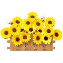 夏装飾 ひまわり垣根スタンド / 向日葵 ヒマワリ 飾り ディスプレイ