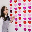 バレンタイン装飾 ピンクハートライン5本セット L105cm/ メール便可