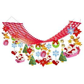 [限定特価]クリスマス装飾 サンタソリハンガー L180cm