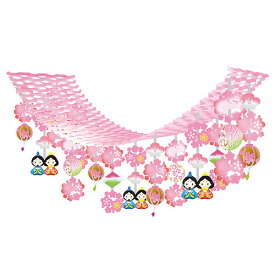ひな祭り装飾 ひなまつりぼんぼりハンガー L180cm / ディスプレイ 飾り 雛祭り