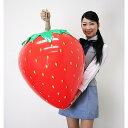 イチゴ装飾 ビニールエアPOPバルーン いちご H63×W51cm / 飾り ディスプレイ 春
