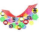 夏祭り装飾 花火提灯お祭りプリーツハンガー L180cm / 飾り ディスプレイ ちょうちん