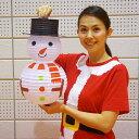 クリスマス装飾 ペーパーランタン スノーマン提灯 H50cm [北海道 沖縄 離島への配送不可]