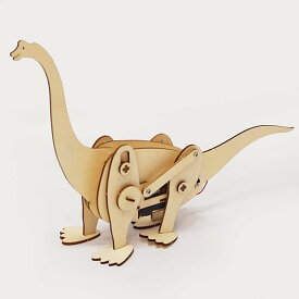 木製工作キット モーターで動く恐竜 ブラキオサウルス / 手作り工作 色塗り お絵描き [北海道 沖縄 離島への配送不可]