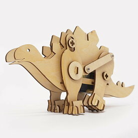 木製工作キット モーターで動く恐竜 ステゴサウルス / 手作り工作 色塗り お絵描き [北海道 沖縄 離島への配送不可]