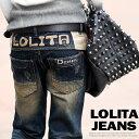 ロリータ ジーンズ LOLITA JEANS 通販 lolita jeans サイズ◆lo-no756ボトム デニム ボーイズ ストレート 刺繍 ウォッシュ ジーンズ 美脚 レディース【10P05Dec15】