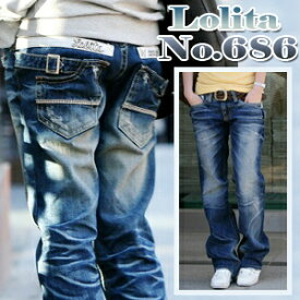 ボーイズシルエット カジュアル ロリータジーンズ LolitaJeans ロリータ ジーンズ Lolita Jeans レディース ボーイフレンドデニム ボーイズ デニム■lo-no686