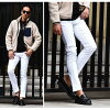 Skinny pants men's Chino bonding stretch skinny Chino pants slim bottoms warm warm back brushed stretch BOA mens fashion Slim pants chinos brother system fall/winter fall clothes white bread white white JOKER Joker.