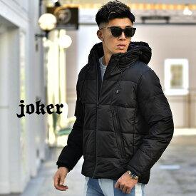 【送料無料】中綿ジャケット メンズ アウター ジャケット ボリュームネック 防寒 ブラック 黒 メンズファッション お兄系 オラオラ系 BITTER ビター系 JOKER ジョーカー AW