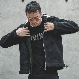 ジャケット メンズ フライトジャケット ムートンジャケット ミリタリージャケット B-3 ボア 裏ボア ブランド 裏起毛 アウター サーフ系 お兄系 オラオラ系 BITTER ビター系 JOKER ジョーカー