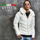 VIOLA rumore ヴィオラ 中綿ジャケット メンズ 冬 ブルゾン 中綿 ジャケット アウター 防寒 ブランド ジップアップ おしゃれ 柄 ロゴ あったか 黒 白 青 ブラック ホワイト ブルー