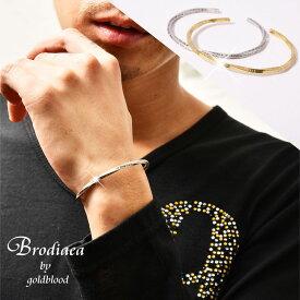 バングル レディース メンズ ブランド ペア ブレスレット ロゴ シルバー きれいめ 真鍮 つけっぱなし シンプル プレゼント ギフト 記念日 ファッション おしゃれ ブローディア brodiaea