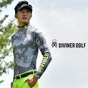 ゴルフウェア メンズ インナー 長袖 コンプレッションインナー ゴルフインナー 迷彩 カモ柄 トップス おしゃれ お洒落 派手 可愛い カワイイ ゴルフ服 ゴルフ ウェア 白 ホワイト ブラック 黒 大きいサイズ LL XL GOLF
