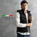 VIOLA rumore ヴィオラ ベスト メンズ 中綿 ジレ 中綿ベスト アウター 大きいサイズ カジュアル ブランド あったか …