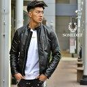 ライダースジャケット メンズ 本革 シングル シングルライダース ブランド 黒 ブラック ラムレザー リアルレザー シン…
