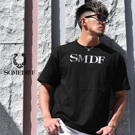 tシャツ メンズ 半袖tシャツ 半袖 ブランド トップス カットソー 大きいサイズ LL XL XXL インナー ビックシルエット 大きめ ゆったり 黒 白 ストリートファッション ストレッチ ビター系 BITTER系 ちょいワル オラオラ系 SOMEDIFF SMDF サムディフ JOKER ジョーカー