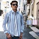 シャツ ストレッチ ワイシャツ ストライプシャツ 長袖シャツ Yシャツ ビジネスシャツ オシャレ 爽やか キレイめ マッ…