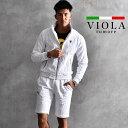 VIOLA rumore ヴィオラ セットアップ ブランド パイル メンズ スタンドジップ パンツ ハーフパンツ 上下 上下セットア…