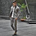 セットアップ メンズ ブランド スーツ テーラード イタリアンカラー ジャケット カジュアルスーツ テーパード フォー…