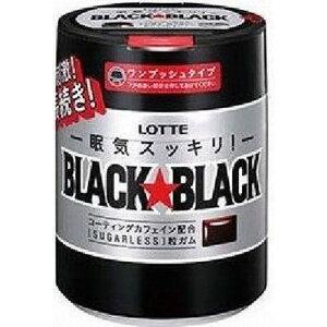 ロッテ ブラックブラック粒ワンプッシュボトル 140g×6個