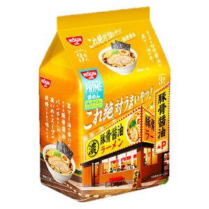 日清これ絶対うまいやつ! 豚骨醤油 3食パック(袋)261g ×9個 /豚骨醤油 /黒マー油 /ストレート麺