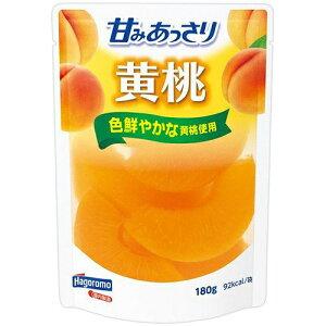 はごろも 甘みあっさり黄桃 パウチ180g×6個