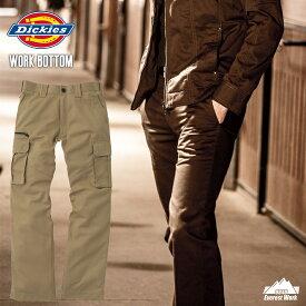 作業服 作業着 Dickies ディッキーズ ズボン カーゴパンツ おしゃれ カジュアル カツラギ 通年 D-1085 『3カラー』 『76〜100cm』
