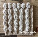 天使 アルファベット コイン シリコンモールド レジン アロマストーン 手作り 石鹸 キャンドル 樹脂 粘土 オルゴナイ…