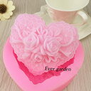 きれいなバラ 花 シリコンモールド ハート型 レジン キャンドル 石鹸 手作り レジン 【オススメ】 かわいい モールド …