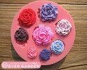 【SALE】バラ 8個 薔薇 シリコンモールド レジン 手作り 石鹸 キャンドル 粘土 レジン シリコン モールド シリコン 型…