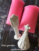 新郎新婦 2個セット 結婚式 シリコンモールド レジン アロマストーン 手作り 石鹸 キャンドル 樹脂 粘土 オルゴナイト 型 抜き型 シリコン 型 レジン パーツ 枠 型 セット モールド 空枠 シ