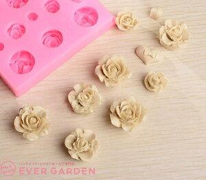 バラ 花 10個 ハート シリコンモールド レジン アロマストーン 手作り 石鹸 キャンドル 樹脂 粘土 オルゴナイト 型 抜き型