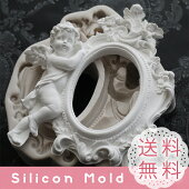 天使 バラ フレーム シリコンモールド レジン アロマストーン 手作り 石鹸 キャンドル 樹脂 粘土 オルゴナイト 型 抜き型