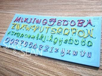 【在庫処分SALE】 アルファベット 大文字 小文字 数字 シリコンモールド / 手作り 石鹸 / キャンドル / 粘土 / レジン / シリコン モールド / 型 抜き型 タイプ